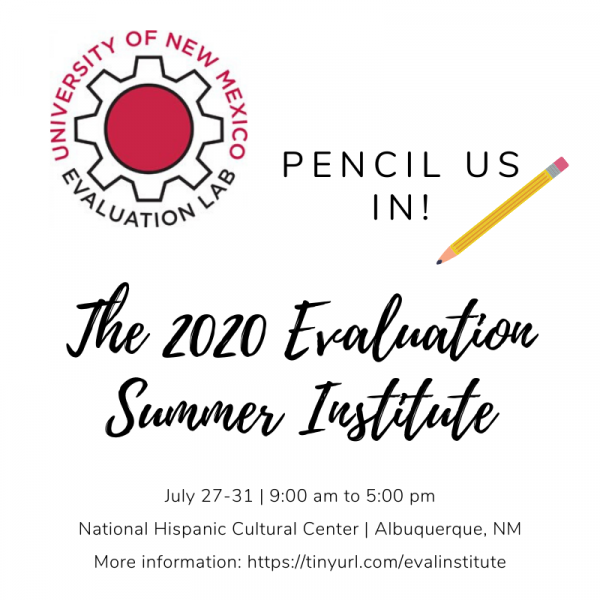 Image of the Save the Date - July 27-31, 2020; 9:00 am to 5:00 pm at the National Hispanic Cultural Center in Albuquerque, New Mexico