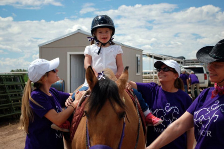 Smiles all around during Therapeutic Riding