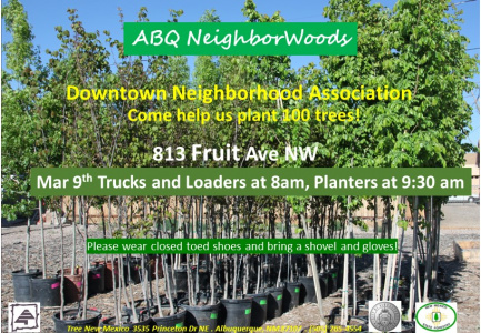 Come help Tree New Mexico and DNA plant 100 trees!